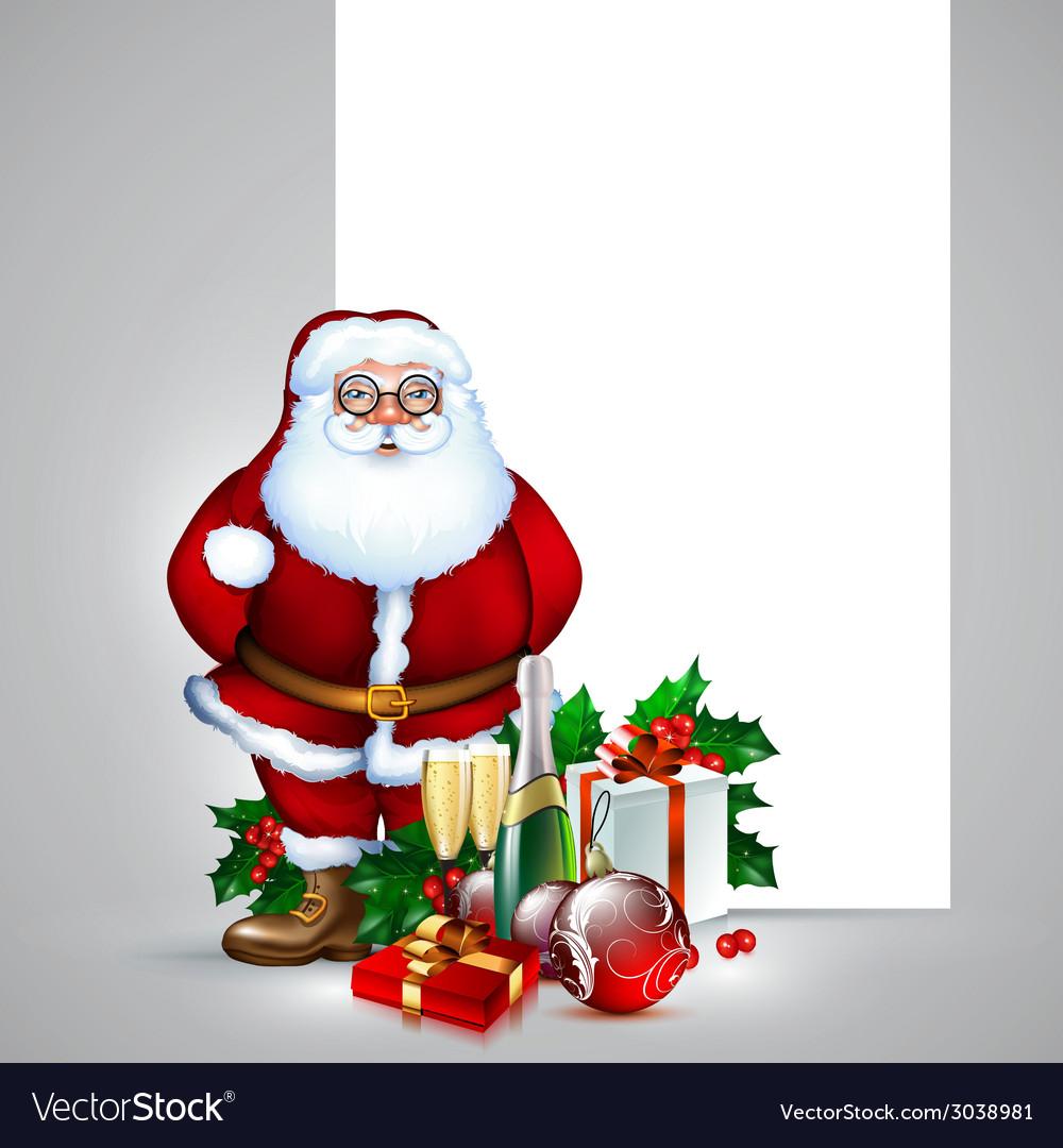 Santa claus christmas design vector | Price: 3 Credit (USD $3)