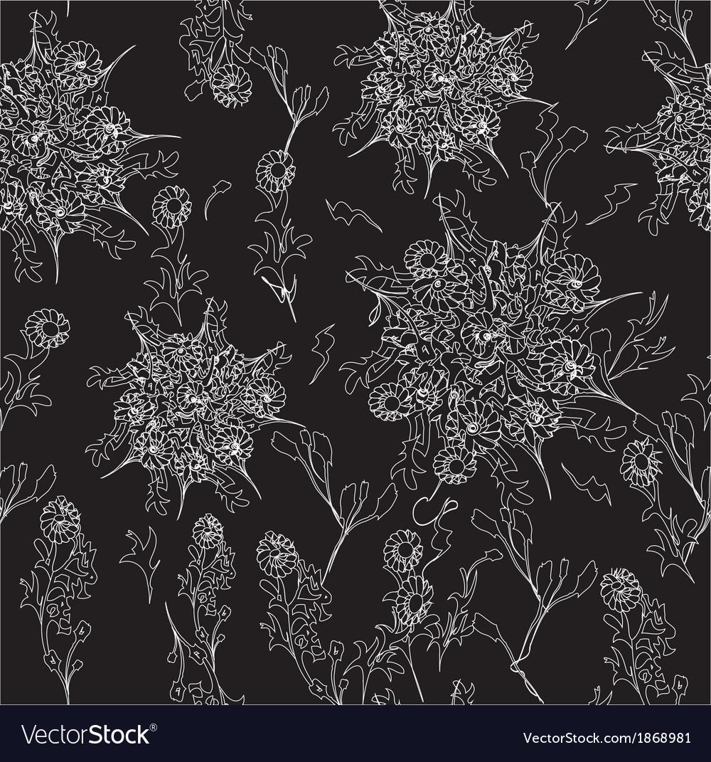 Weird flower pattern vector | Price: 1 Credit (USD $1)
