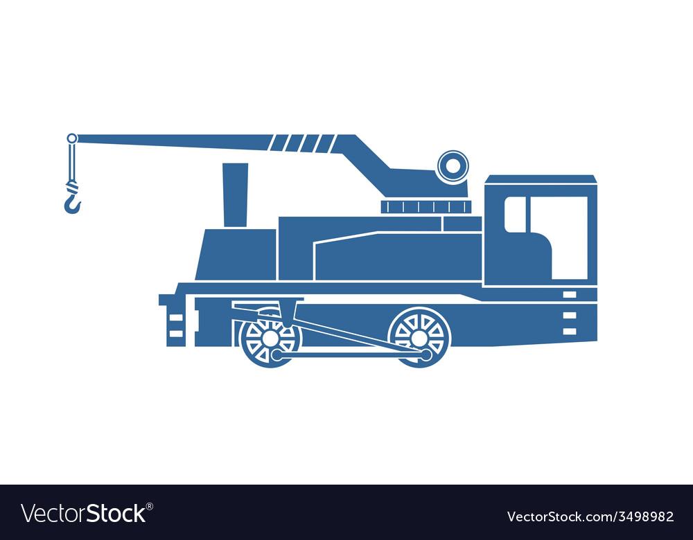 Crane tank steam locomotive vector | Price: 1 Credit (USD $1)
