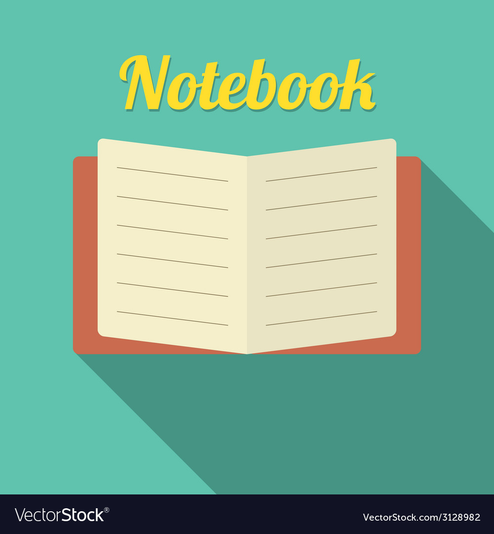 Flat design blank notebook vector | Price: 1 Credit (USD $1)