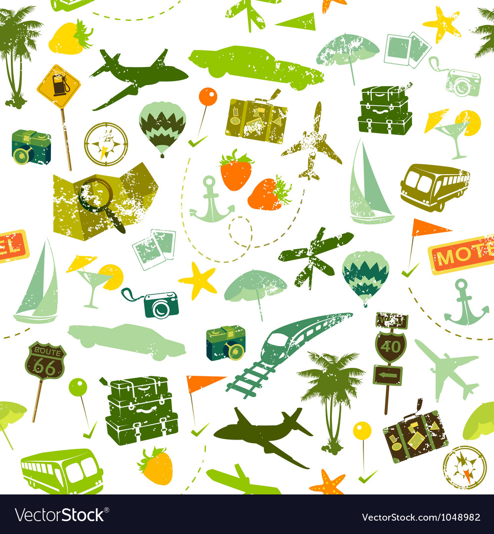 Traveling seamless vector | Price: 1 Credit (USD $1)