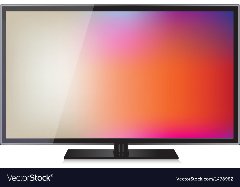 Tv flat screen lcd plasma realistic vector | Price: 1 Credit (USD $1)
