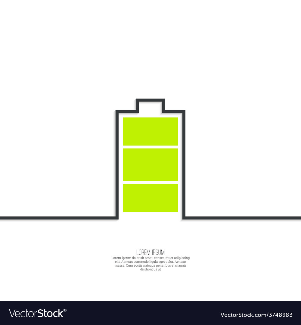 The battery icon vector | Price: 1 Credit (USD $1)