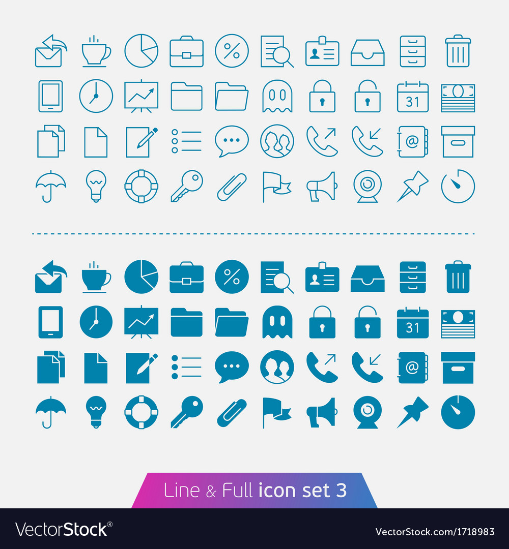 Business and office set 3 vector | Price: 1 Credit (USD $1)