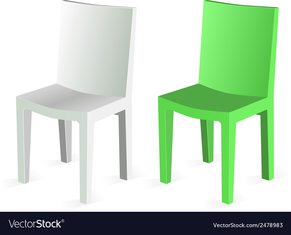 Chair isolated on white background vector | Price: 1 Credit (USD $1)
