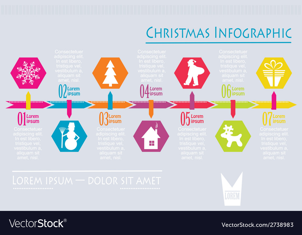 Christmas infographic vector   Price: 1 Credit (USD $1)