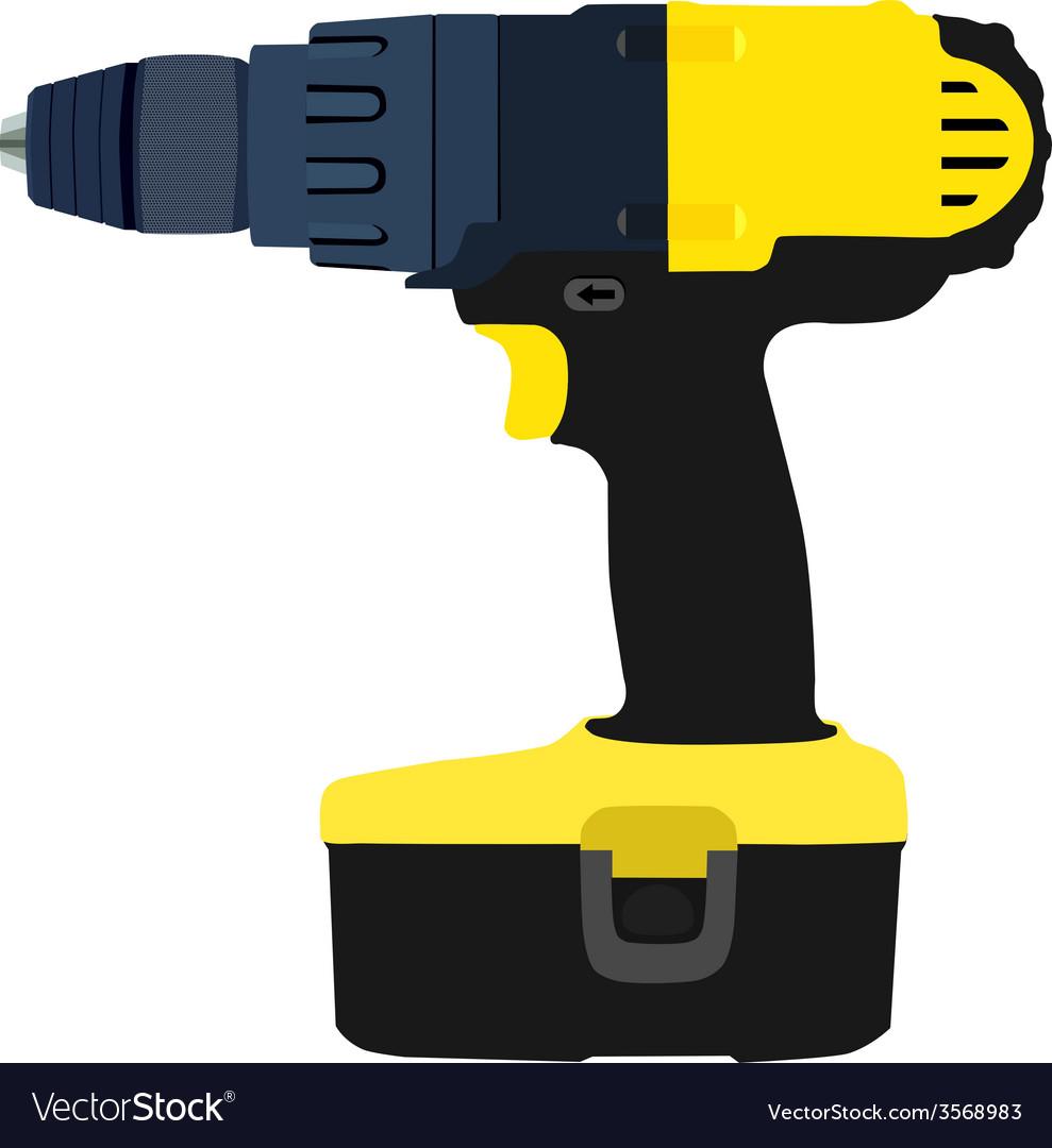 Drill driver vector | Price: 1 Credit (USD $1)