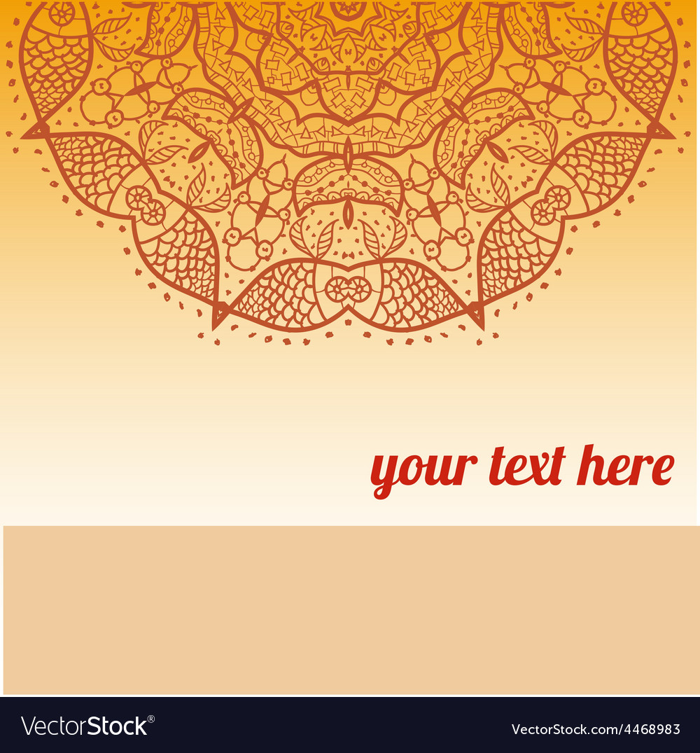 Ornate frame with sample text vector   Price: 1 Credit (USD $1)