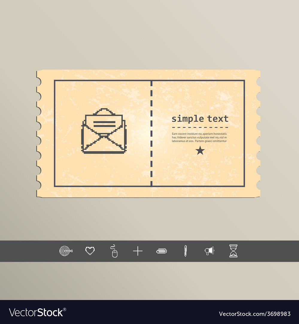 Simple stylish pixel icon envelope design vector   Price: 1 Credit (USD $1)