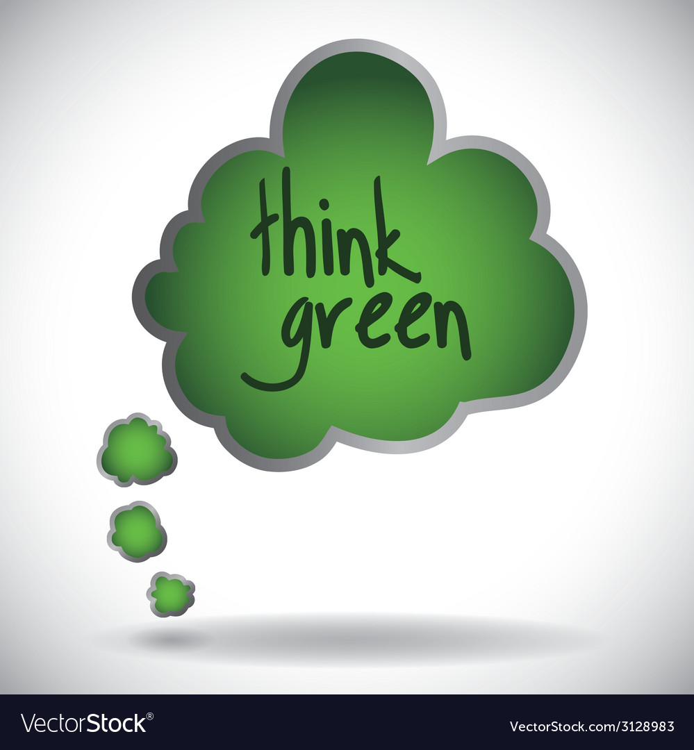 Think green design vector | Price: 1 Credit (USD $1)