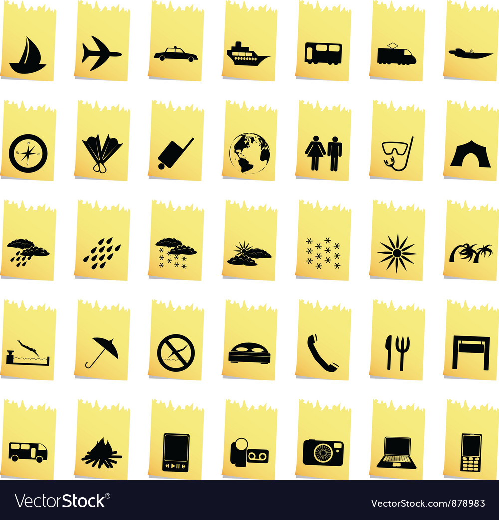 Transportation set of different web icons vector | Price: 1 Credit (USD $1)
