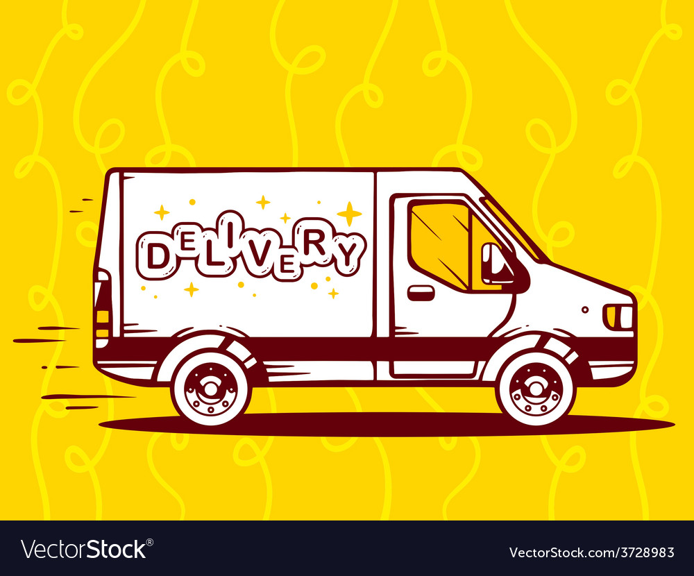 Van free and fast delivery to customer on vector | Price: 1 Credit (USD $1)