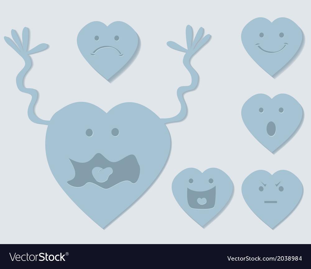 Cartoon hearts vector | Price: 1 Credit (USD $1)