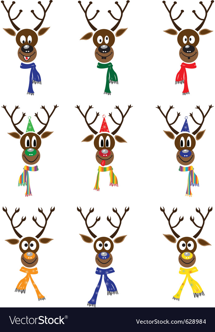 Christmas reindeer vector | Price: 1 Credit (USD $1)