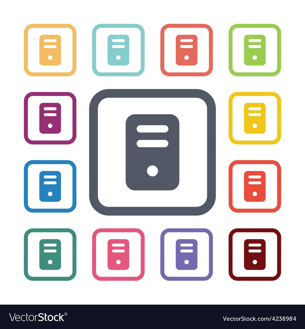 Computer flat icons set vector   Price: 1 Credit (USD $1)