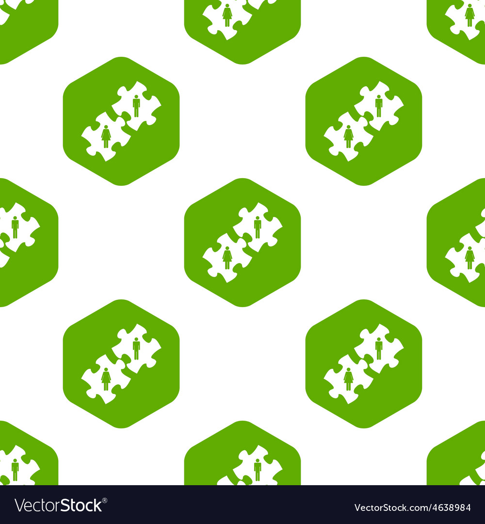 Couple puzzle pattern vector | Price: 1 Credit (USD $1)