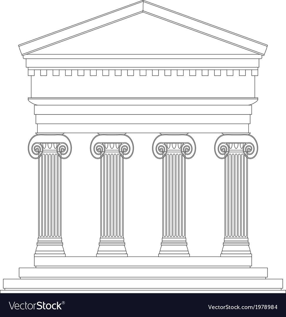 Ionic greek temple vector | Price: 1 Credit (USD $1)