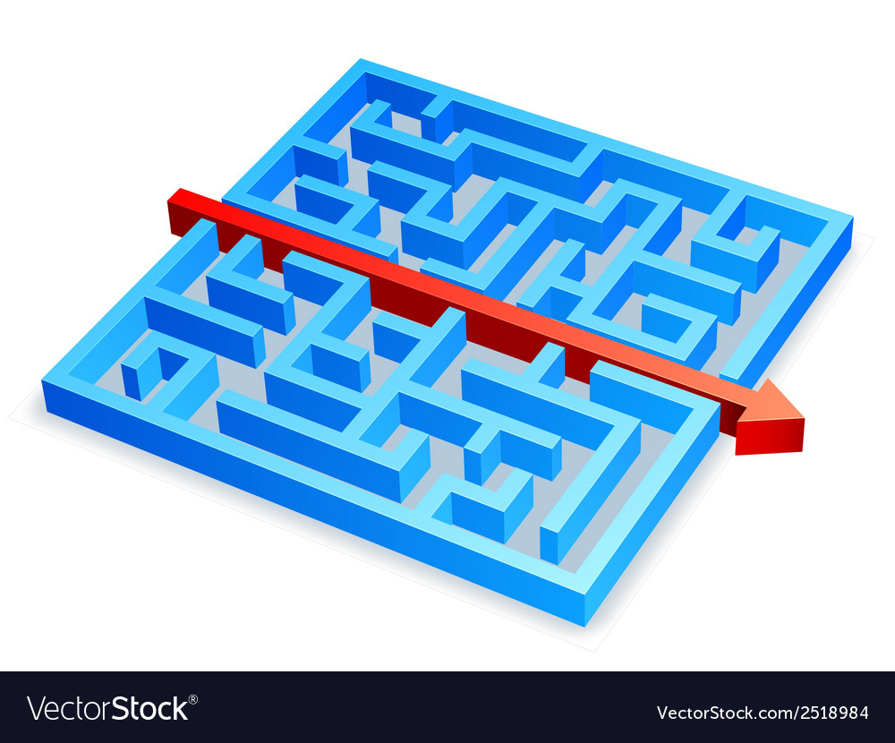 Maze concept vector | Price: 1 Credit (USD $1)