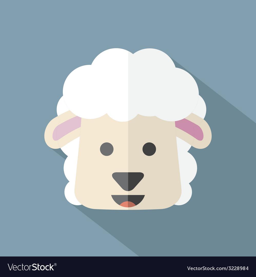 Modern flat design sheep icon vector | Price: 1 Credit (USD $1)