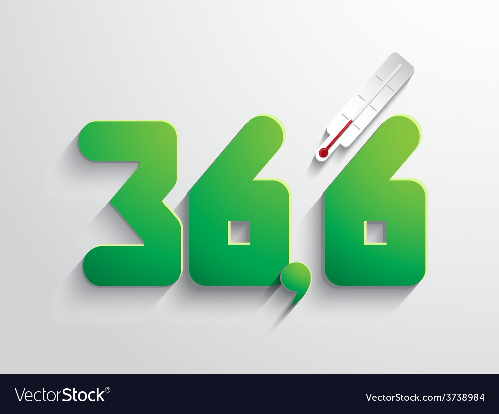 Normal body temperature symbol - coloured vector | Price: 1 Credit (USD $1)