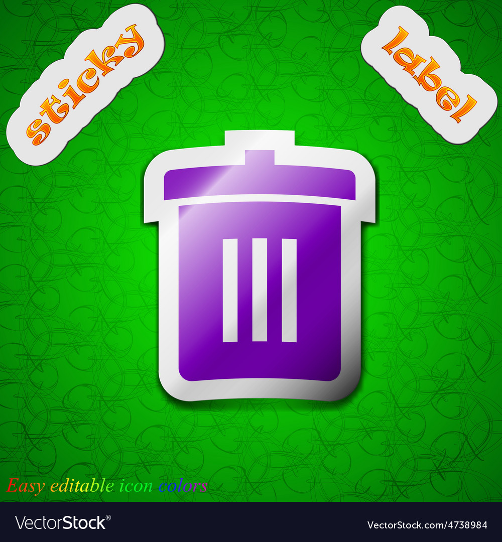 Recycle bin reuse or reduce icon sign symbol chic vector | Price: 1 Credit (USD $1)