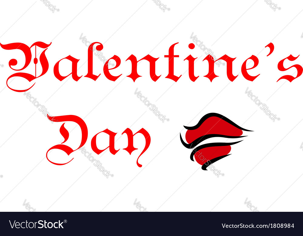Valentines day greeting card header vector | Price: 1 Credit (USD $1)
