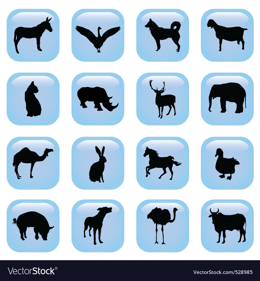 Animal buttons vector | Price: 1 Credit (USD $1)