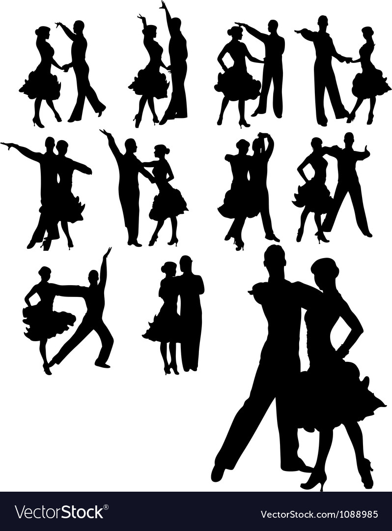 Couple dancing set vector | Price: 1 Credit (USD $1)