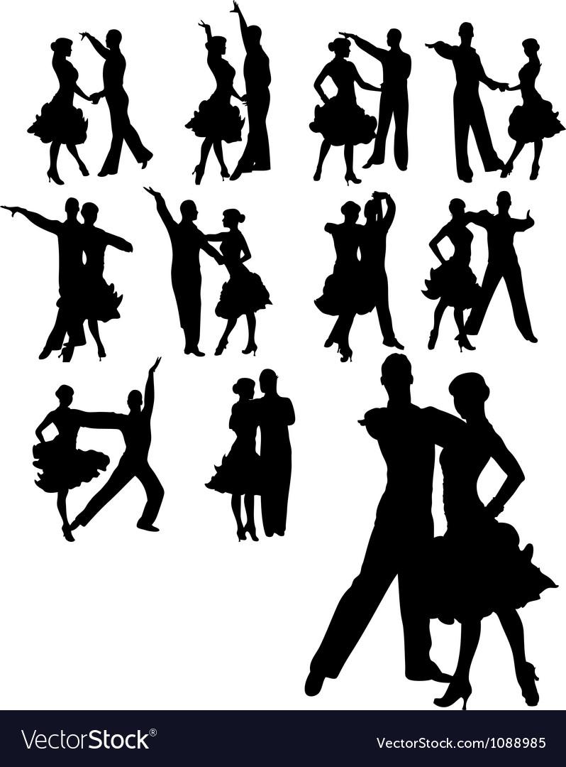 Couple dancing set vector | Price: 1 Credit (USD $1)