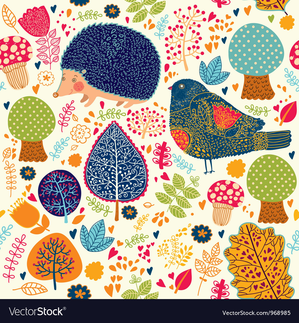 Cute animals background vector | Price: 3 Credit (USD $3)