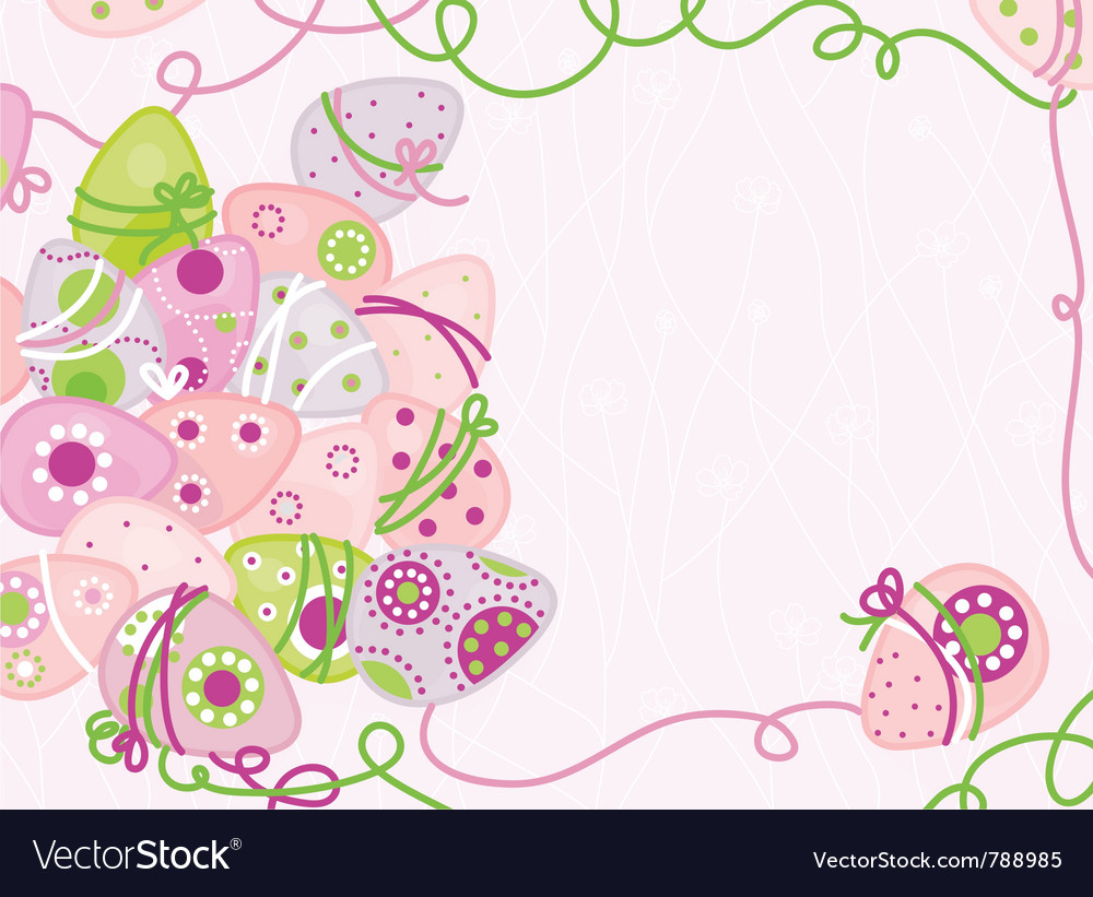 Easter background of decorated eggs vector | Price: 1 Credit (USD $1)