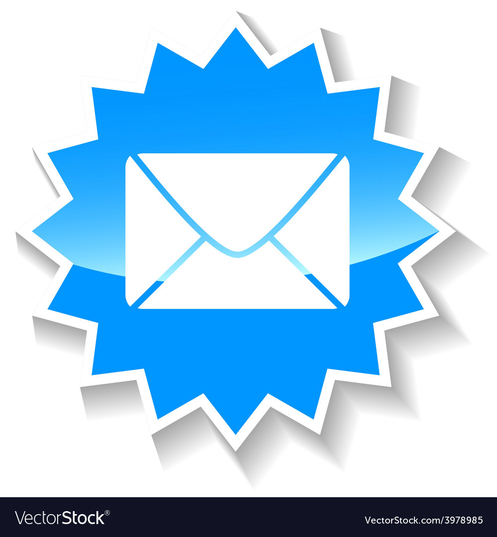 Mail blue icon vector | Price: 1 Credit (USD $1)