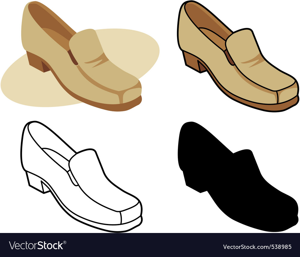 Male shoe vector | Price: 1 Credit (USD $1)