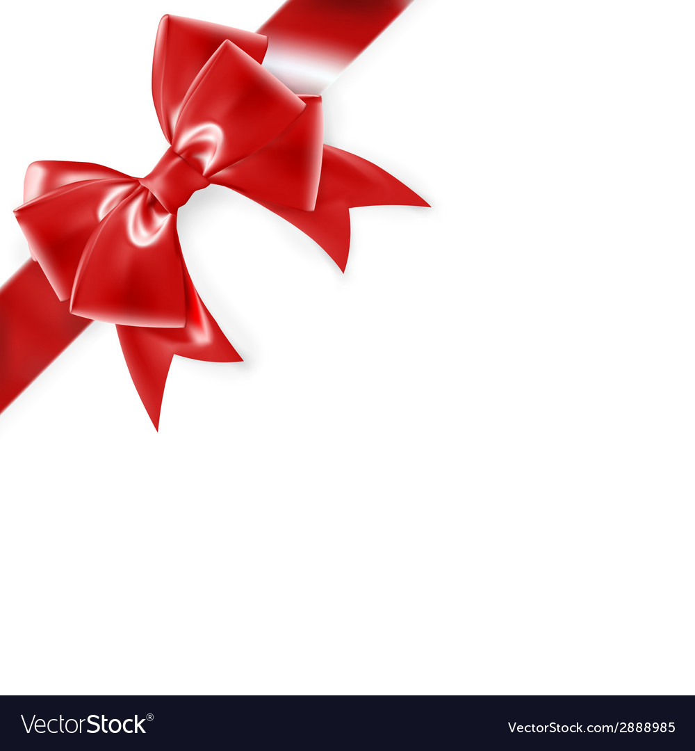 Red bow isolated on white eps 10 vector