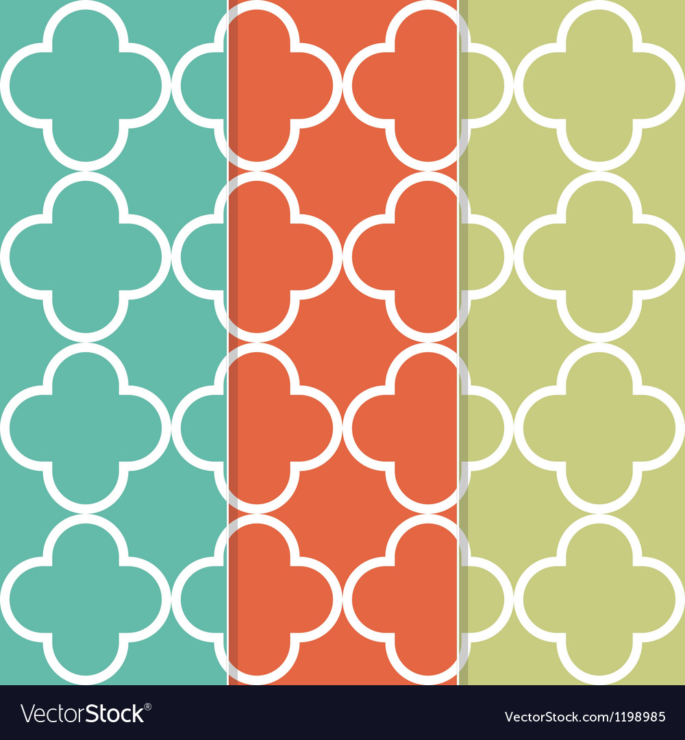 Seamless clover pattern background vector | Price: 1 Credit (USD $1)