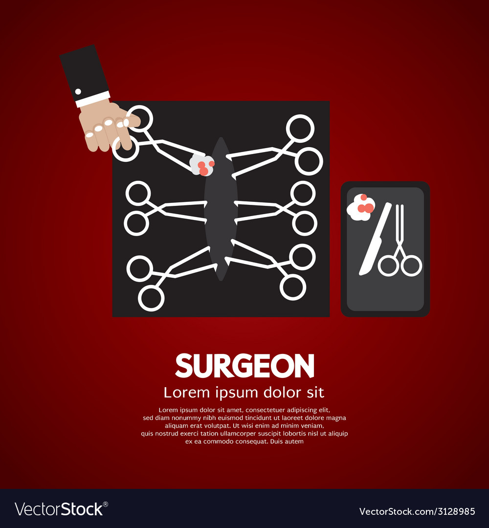 Surgeons incision scissors vector | Price: 1 Credit (USD $1)