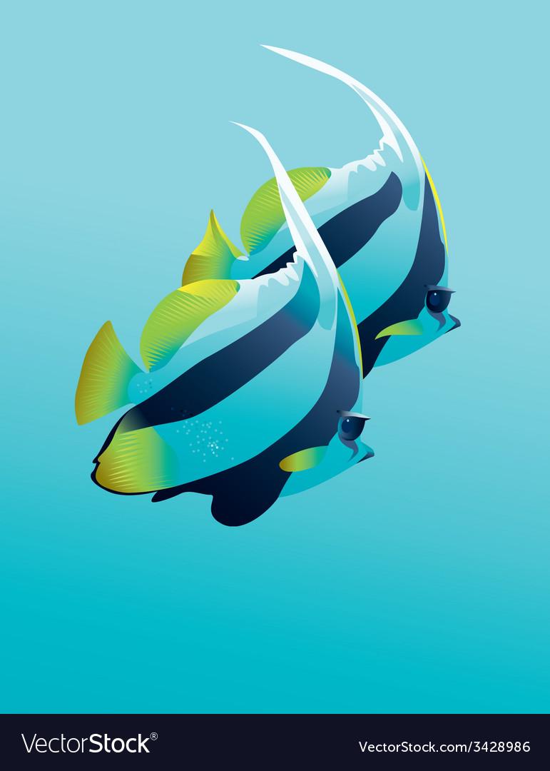 Banner fish vector | Price: 1 Credit (USD $1)