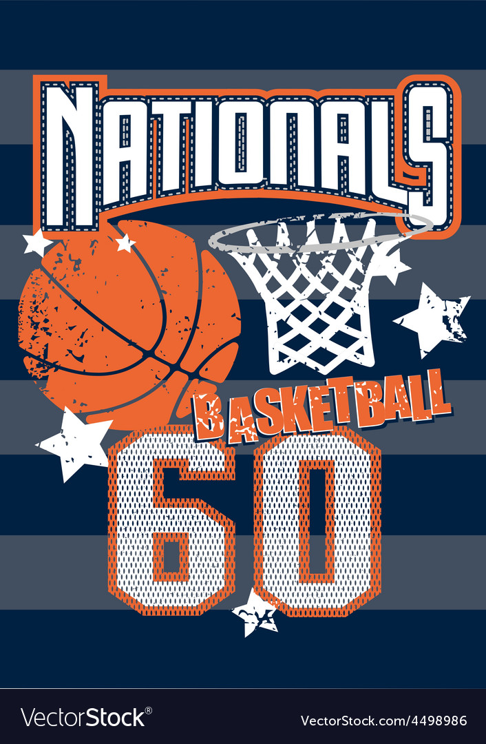 Basketball nationals sports on stripped background vector | Price: 1 Credit (USD $1)