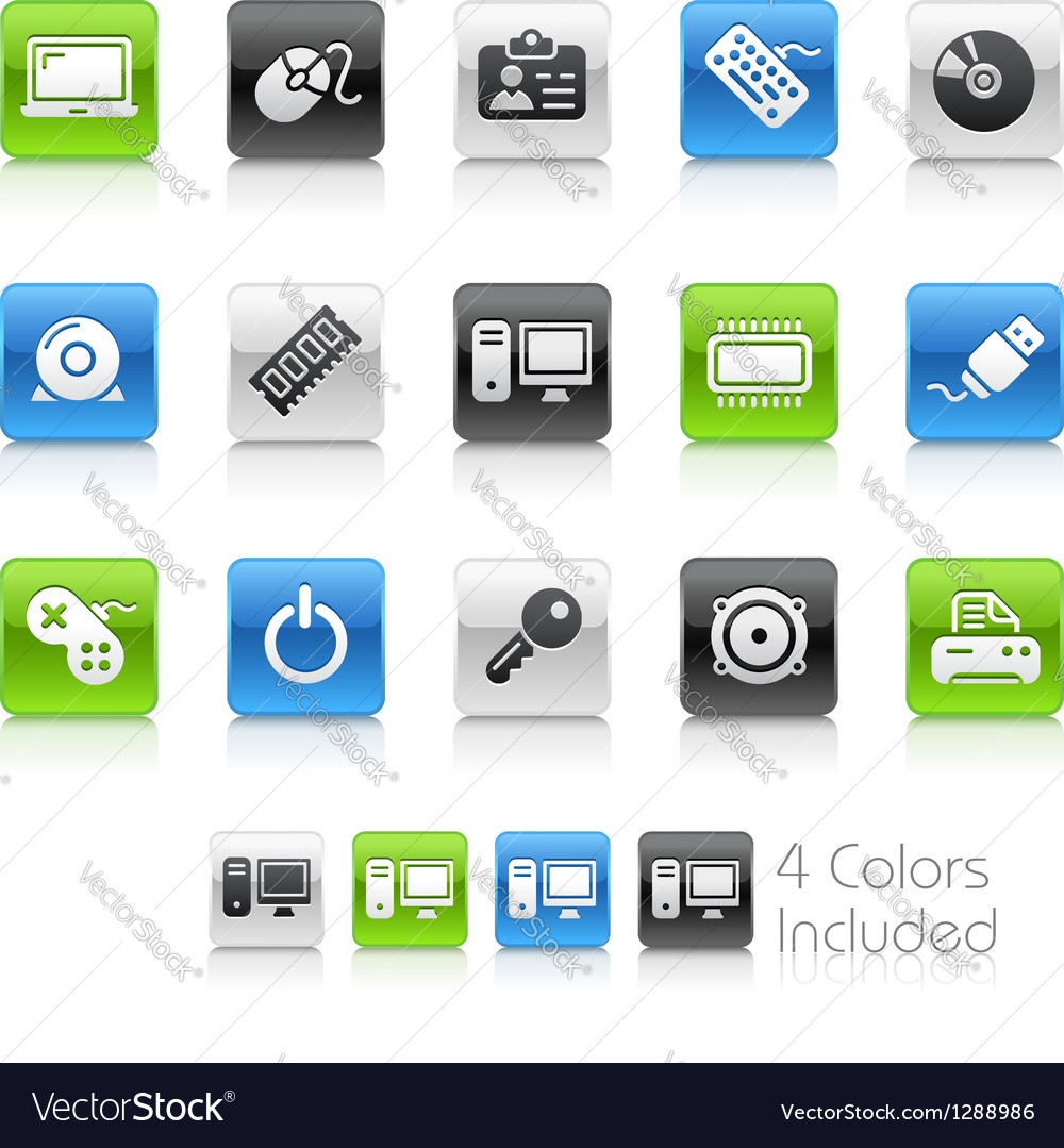 Computer devices clean series vector | Price: 1 Credit (USD $1)