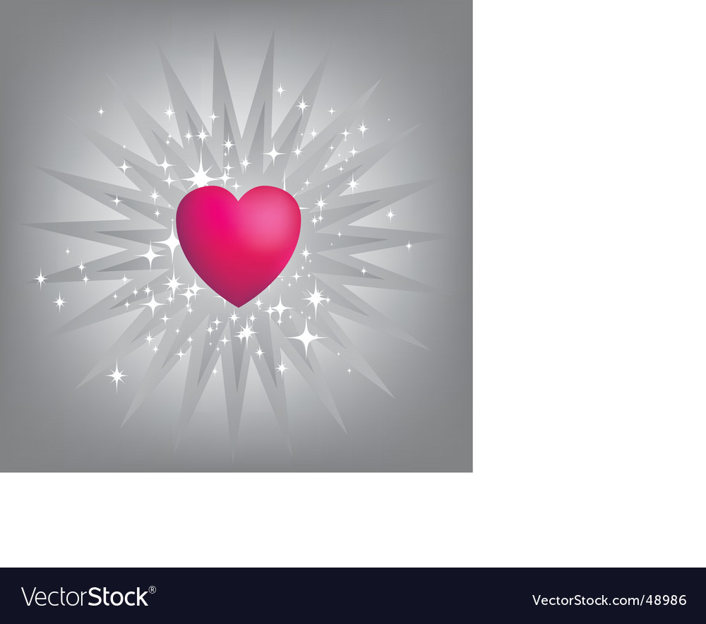 Exploding pink heart vector | Price: 1 Credit (USD $1)