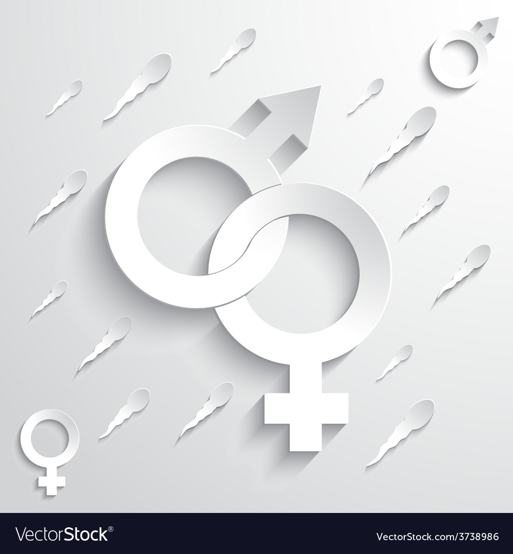 Gender signs on sperm background vector | Price: 1 Credit (USD $1)