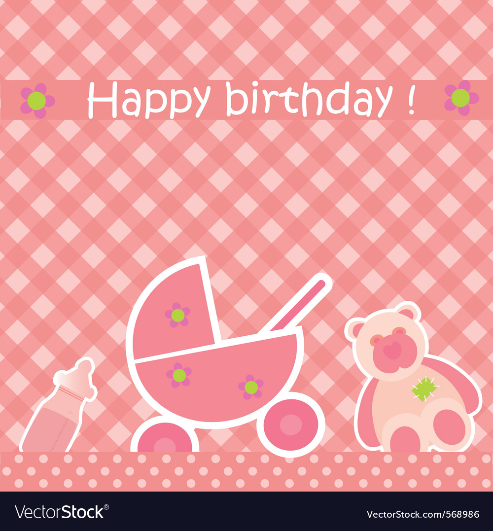 Greeting card with birthday vector | Price: 1 Credit (USD $1)