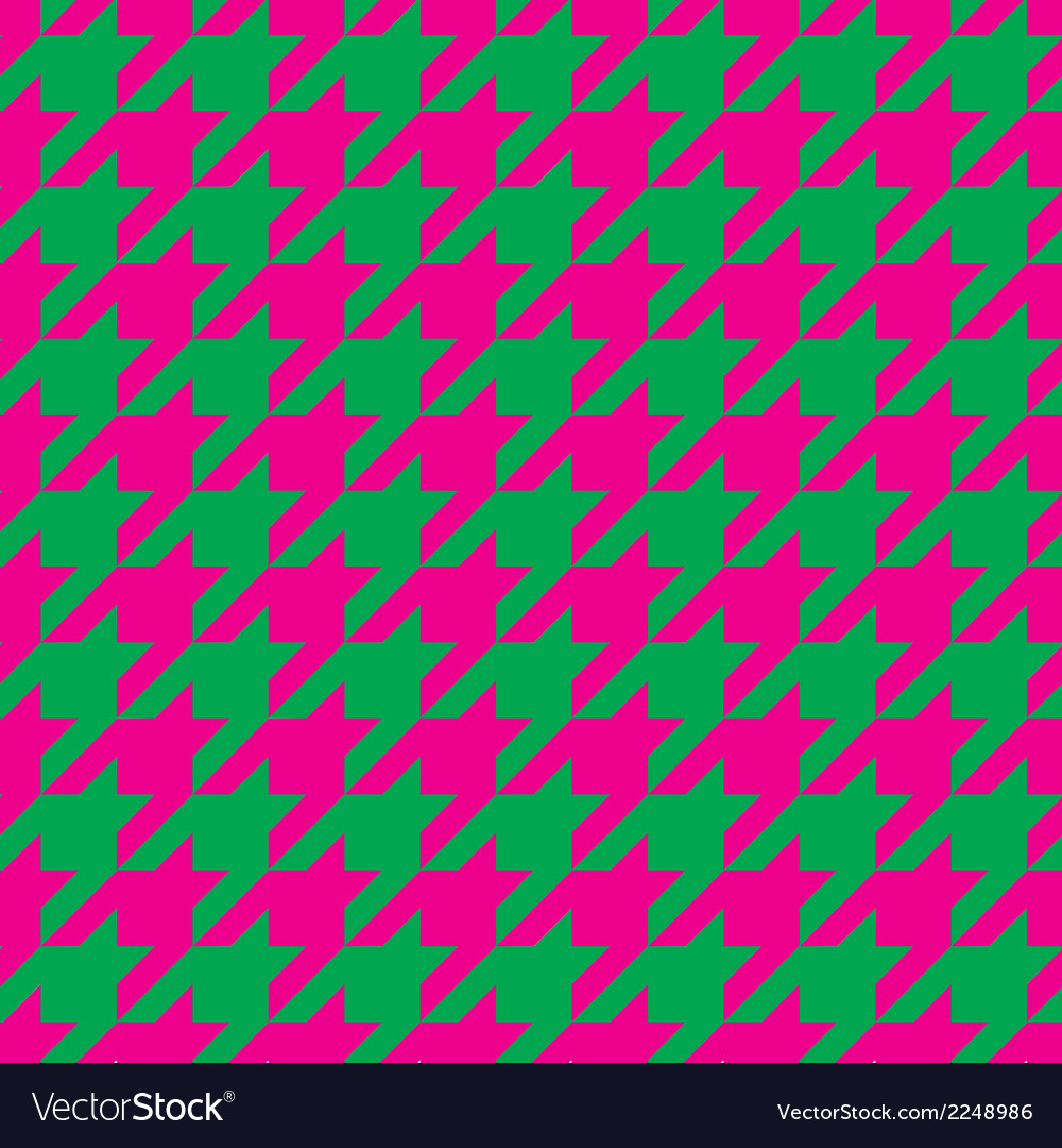 Houndstooth seamless pattern or tile background vector | Price: 1 Credit (USD $1)