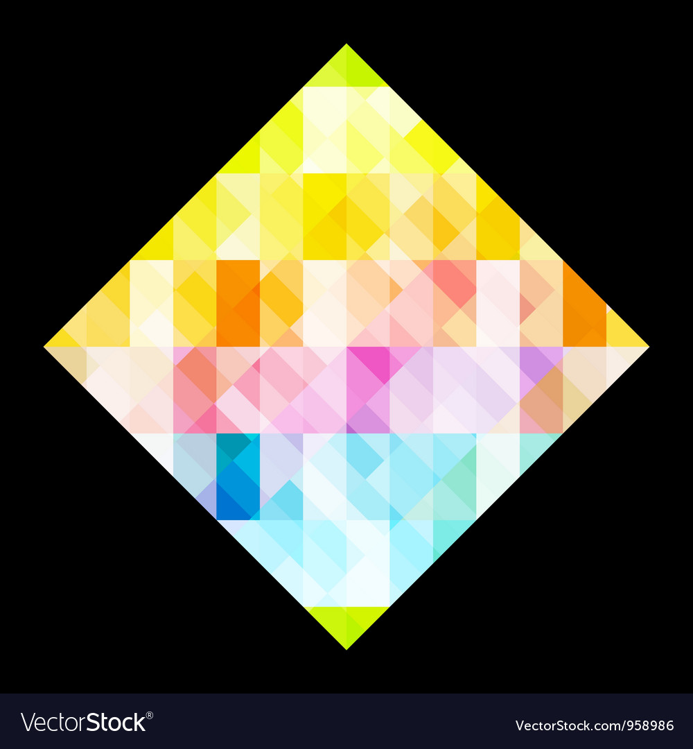 Multicolored rhombus vector | Price: 1 Credit (USD $1)