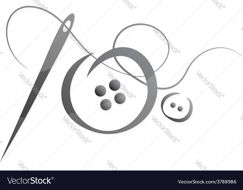 Needle and thread vector | Price: 1 Credit (USD $1)