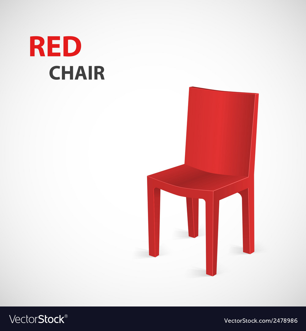 Red chair isolated vector | Price: 1 Credit (USD $1)