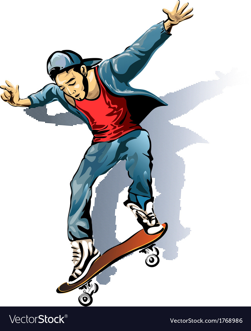 The skateboarder vector | Price: 3 Credit (USD $3)