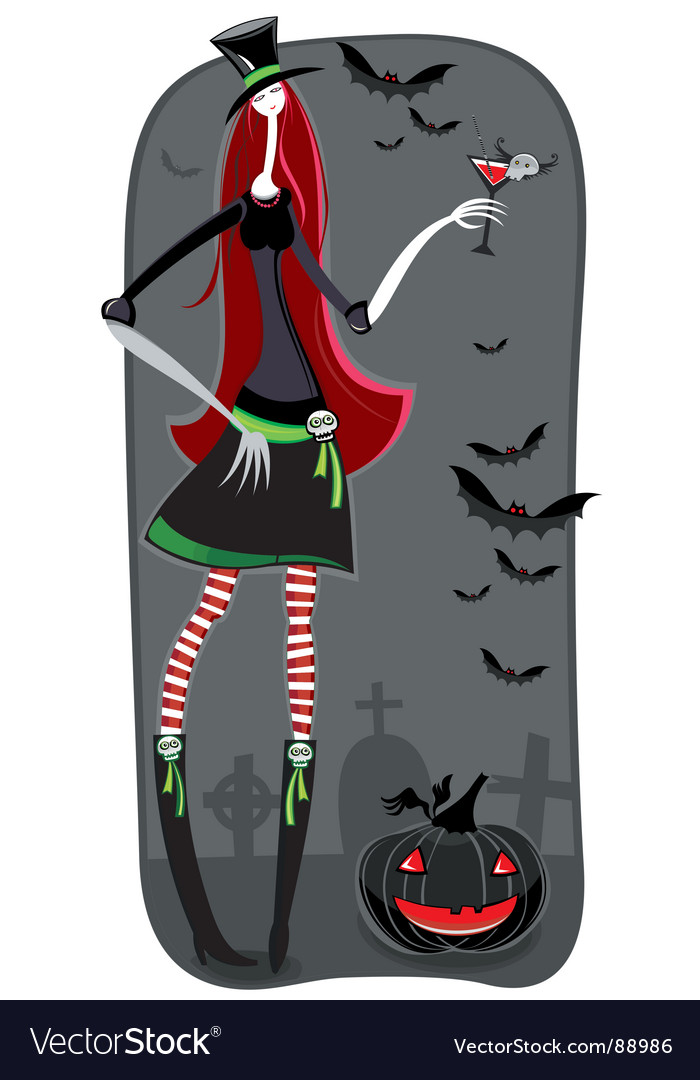 Zombie girl vector | Price: 3 Credit (USD $3)