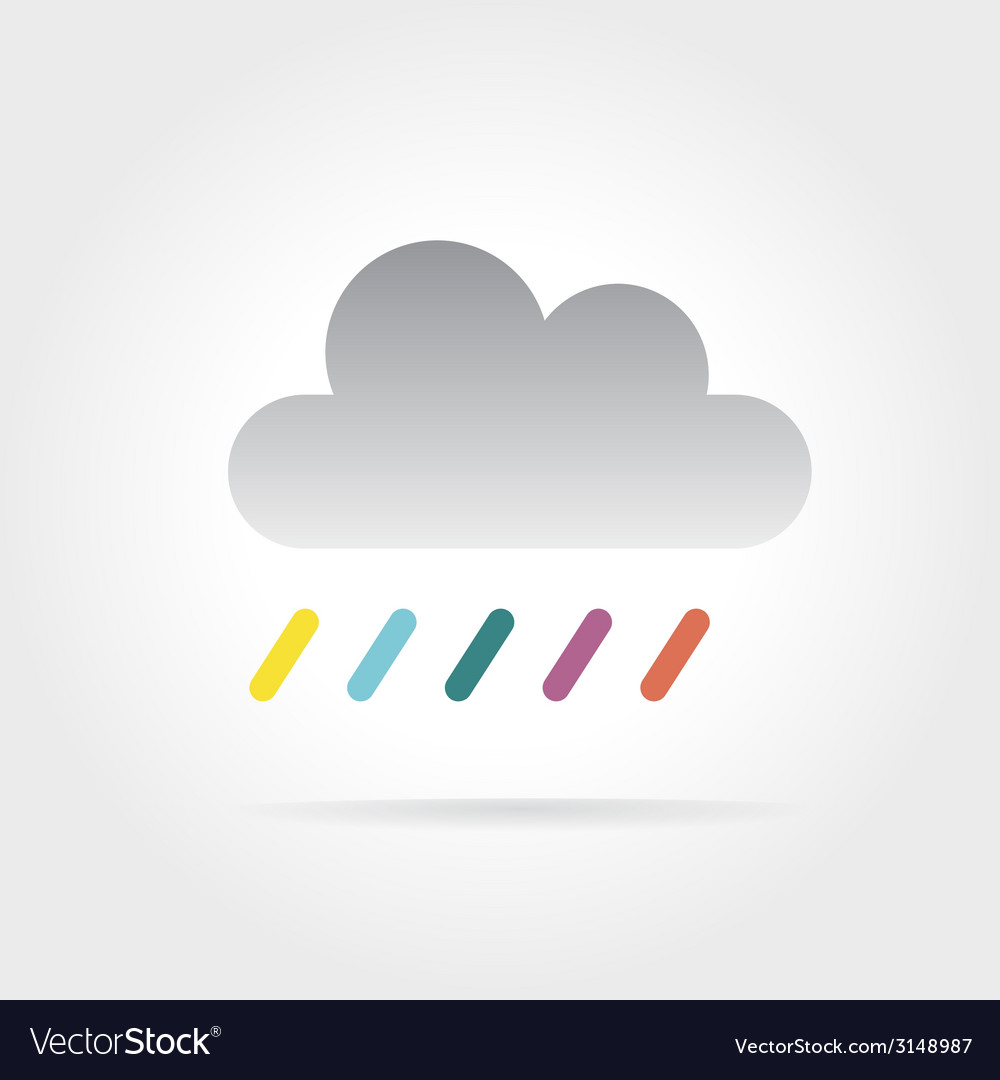 Abstract colored cloud icon isolated on white vector | Price: 1 Credit (USD $1)