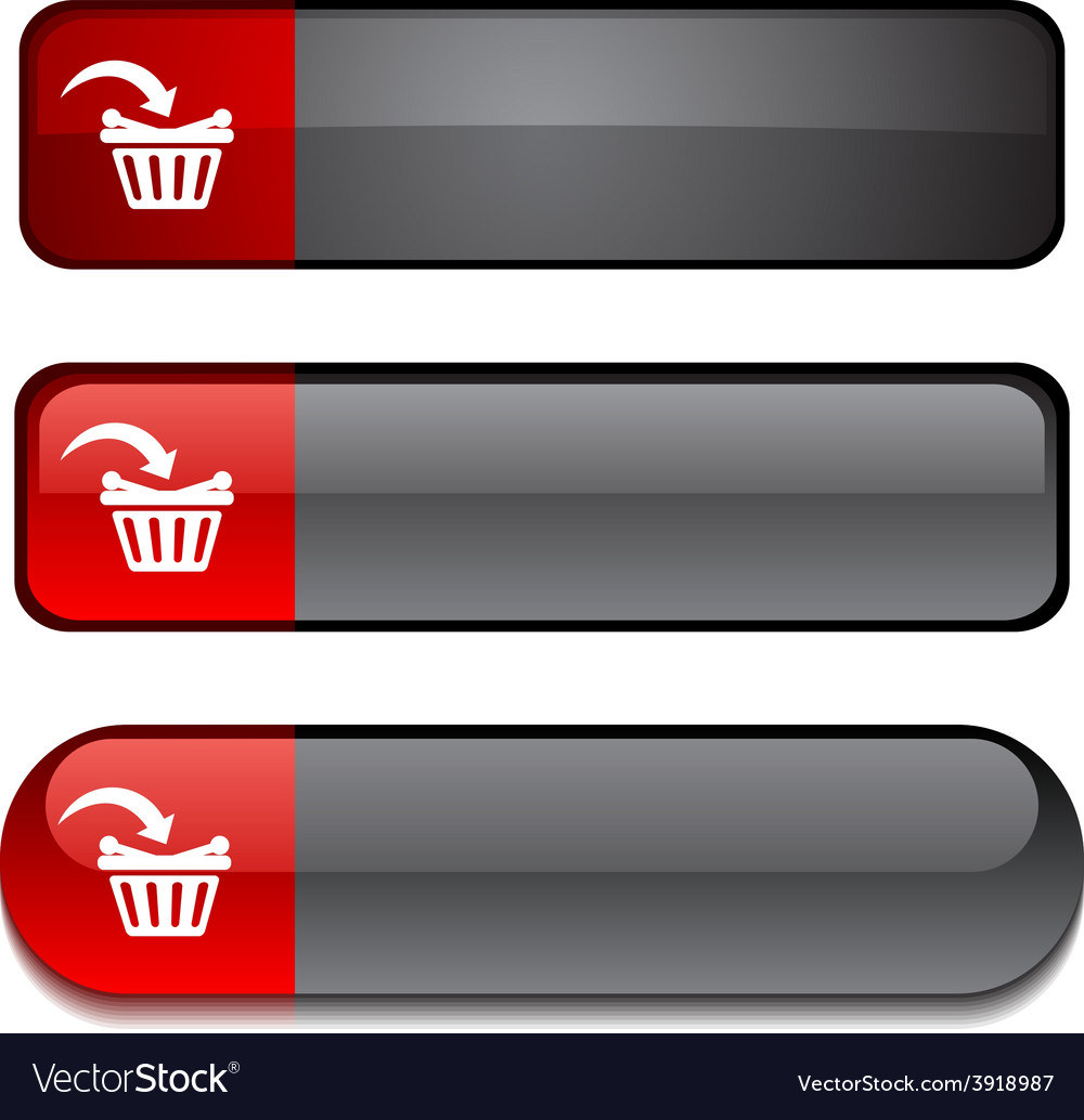 Buy button set vector | Price: 1 Credit (USD $1)